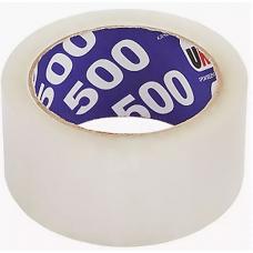 Клейкая лента упаковачная 48мм*66м  UNIBOB 500 (прозрачная) 29345