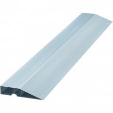 Правило алюминиевое с заглушкой, длина 1,5м, трапециевидный профиль с ребром жесткости  УПРАВДОМ