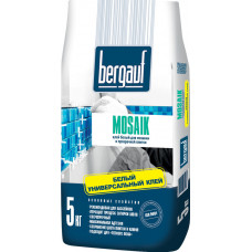 Mosaik  5 кг  клей на белом цементе для прозрачной плитки, мозайки  Bergauf   (6шт/пал)