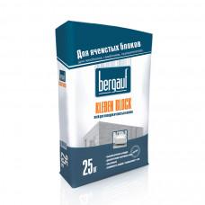 Kleben Block  25 кг  клей для укладки ячеистых блоков  Bergauf  (56шт/пал)