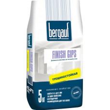 Finish Gips  5 кг шпаклевка  белая гипсовая для тонкослойного шпаклевания Bergauf  (6м/пал)
