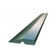 Правило Трапеция алюминий, с канавкой и пластиковыми заглушками 2,0м Maurerfreund