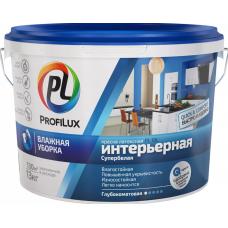 """""""Профилюкс"""" ВД краска  латекс. интерьерная влагостойкая бел. PL- 10L 40кг."""