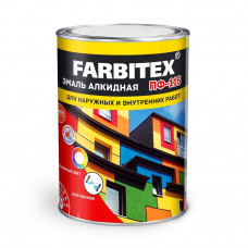Эмаль алкидная ПФ-115 белая 0,9кг FARBITEX