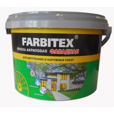 Краска акриловая фасадная 13кг. FARBITEX