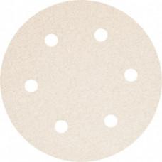 Абразивный круг P 80  SMIRDEX 510 White, D=225мм, 6 отверстий (из кор.)
