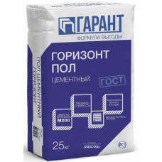 ГОРИЗОНТ Пол цементный  25 кг ТМ ГАРАНТ (56 м/пал)