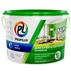 """""""Профилюкс"""" ВД краска  акриловая для стен и потолков белая PL- 04А   13кг"""