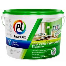 """""""Профилюкс"""" ВД краска  акриловая для стен и потолков белая PL- 04А  3кг"""