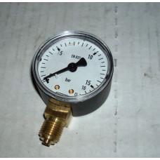 Манометр 0-16 бар D50мм нижн